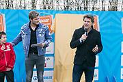 2018-030-21. DVSU, Utrecht. Kick-off sportplaatjesactie. Op de foto: Tim Douwsma en Toine van Peperstraten