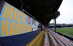 A general view of a Mick Harford banner inside Kenilworth Road, home of Luton Town - Mandatory by-line: Joe Dent/JMP - 19/01/2019 - FOOTBALL - Kenilworth Road - Luton, England - Luton Town v Peterborough United - Sky Bet League One