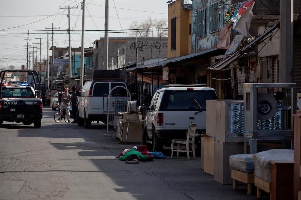 An execution victim near the center of Ciudad Juarez.