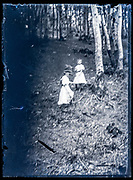 blurry image of two girls in the woods France ca 1920s