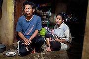 Abah Dayat (61) and his wife, Karwati (46). Citeureup Village, Kabupaten Bandung...Credit: Andri Tambunan for Greenpeace