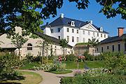 Festung Königstein, Kommandantengarten, Elbsandsteingebirge, Sächsische Schweiz, Sachsen, Deutschland.|.Fortress Koenigstein, garden, Saxon Switzerland, Saxony, Germany.