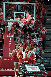 01 February 2014:  A dunk troop dressed in Chicago Bulls apparel performs at half time during an NCAA Missouri Valley Conference (MVC) mens basketball game between the Drake Bulldogs and the Illinois State Redbirds  in Redbird Arena, Normal IL.