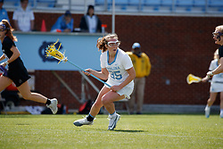 CHAPEL HILL, NC - MARCH 02: Brooklyn Neumen #35 of the North Carolina Tar Heels during a game against the Northwestern Wildcats on March 02, 2019 at the UNC Lacrosse and Soccer Stadium in Chapel Hill, North Carolina. North Carolina won 11-21. (Photo by Peyton Williams/US Lacrosse)