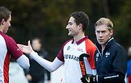 BILTHOVEN - Jonas de Geus (Almere)   voor de competitiewedstrijd heren,  SCHC-Almere (3-2) . COPYRIGHT KOEN SUYK