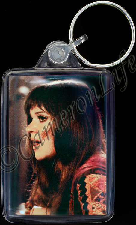 Melanie Safka - Key Fob with image approx. 35mm x 50mm from 1970 Isle of Wight Music Festival exhibition on the front. The reverse has an exclusive CameronLife  1970 IW festival design