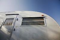 Caravan exterior low angle view