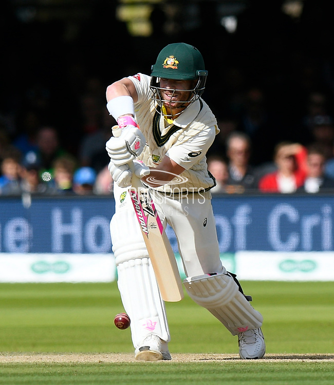 David Warner of Australia batting during the International Test Match 2019 match between England and Australia at Lord's Cricket Ground, St John's Wood, United Kingdom on 18 August 2019.