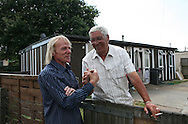Jim saying hello to one of his neighbour on the Exacalibur Estate, where there are 187 prefabs. Thousands of post-war prefabs are still being lived in and cherished by their tenants or owners all over the UK.