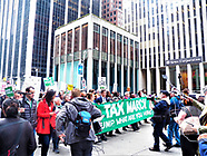 Tax March to Trump Towers New York City-USA-April 15th 2017