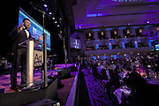 Manhattan, NY (Nov. 11, 2015) -- Joel Edward McHale, American comedian, actor, writer, television producer, and host plays the MC during the Ad Council's 2015 annual awards dinner at the Waldorf Astoria Hotel in New York City on November 11, 2015. The Ad Council produces, distributes and promotes campaigns that improve everyday lives. The Ad Council creates comprehensive, integrated communication campaigns that may include consumer research, media outreach, mobile content, public relations, public service announcements, school<br />