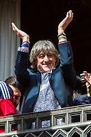 Osasuna's coach, Enrique Martin during the celebration for promotion to La Liga BBVA at Navarra palace. 19,06,2016. (ALTERPHOTOS/Rodrigo Jimenez)