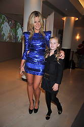 JAZZY DE LISSER and her sister LADY LOLA CRICHTON-STUART at fundraising dinner and auction in aid of Liver Good Life a charity for people with Hepatitis held at Christies, King Street, London on 16th September 2009.