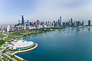 The Shedd Aquarium and Grant Park, Chicago, IL