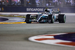 September 17, 2017 - Singapore, Singapore - Motorsports: FIA Formula One World Championship 2017, Grand Prix of Singapore, ..#77 Valtteri Bottas (FIN, Mercedes AMG Petronas F1 Team) (Credit Image: © Hoch Zwei via ZUMA Wire)