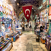 One of the side streets of Istanbul's Grand Bazaar.