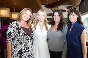 Sarah Jane Morris (center, white dress) with friends