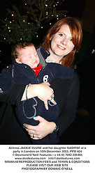 Actress JACKIE CLUNE and her daughter SAOIRSE at a party in London on 10th December 2003.PPM 404