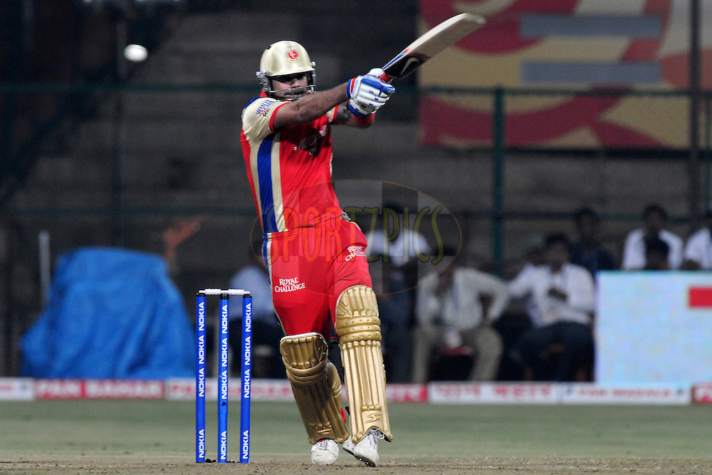 Virat Kholi of Royal Challengers Bangalore bats during match 1 of the NOKIA Champions League T20 ( CLT20 )between the Royal Challengers Bangalore and the Warriors held at the  M.Chinnaswamy Stadium in Bangalore , Karnataka, India on the 23rd September 2011..Photo by Pal Pillai/BCCI/SPORTZPICS