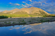 Ogilvie River and the Ogilvie Mountains along the Dempster<br /> Dempster Highway<br /> Northwest Territories<br /> Canada