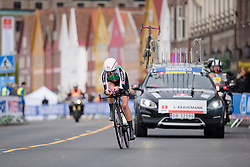 Lara Krahemann at UCI Road World Championships Junior Women's Individual Time Trial 2017 a 16.1 km time trial in Bergen, Norway on September 18, 2017. (Photo by Sean Robinson/Velofocus)