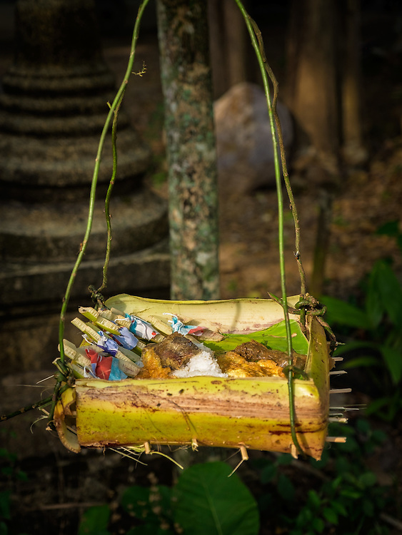 An Offering Basket at a Village Blessing Ceremony, Tambon-Baan, in Nakhon Nayok, Thailand