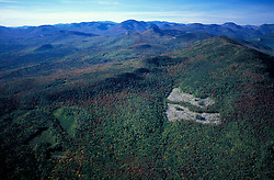 White Mountain N.F., NH. Clearcuts near Bear Mountain.  White Mountain National Forest. Early fall.
