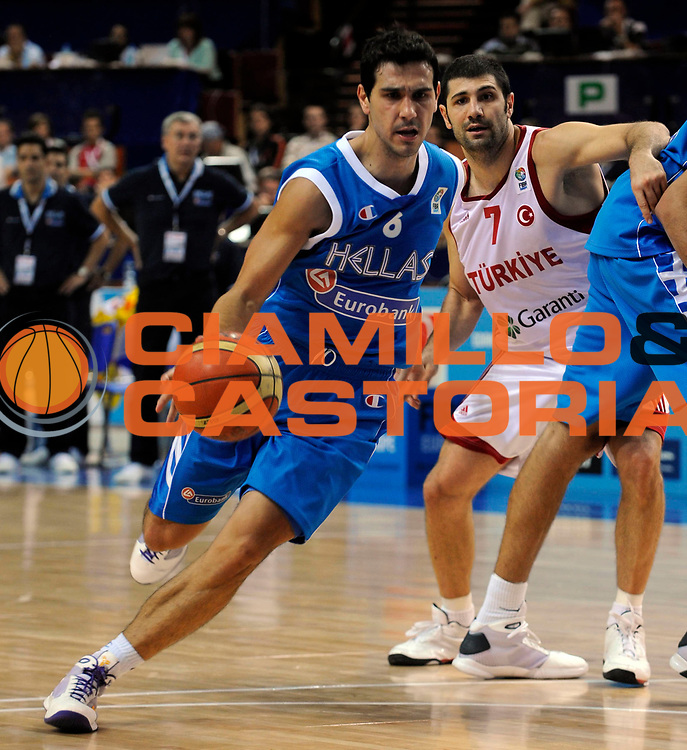 DESCRIZIONE : Katowice Poland Polonia Eurobasket Men 2009 Quarter Final Turchia Turkey Grecia Greece<br /> GIOCATORE : Nikolaos Zizis<br /> SQUADRA : Grecia Greece<br /> EVENTO : Eurobasket Men 2009<br /> GARA : Turchia Turkey Grecia Greece <br /> DATA : 18/09/2009 <br /> CATEGORIA : <br /> SPORT : Pallacanestro <br /> AUTORE : Agenzia Ciamillo-Castoria/N.Parausic<br /> Galleria : Eurobasket Men 2009 <br /> Fotonotizia : Katowice  Poland Polonia Eurobasket Men 2009 Quarter Final Turchia Turkey Grecia Greece<br /> Predefinita :