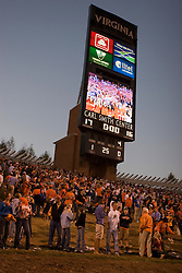 The Virginia Cavaliers defeated the Connecticut Huskies 17-16 at Scott Stadium in Charlottesville, VA on October 13, 2007