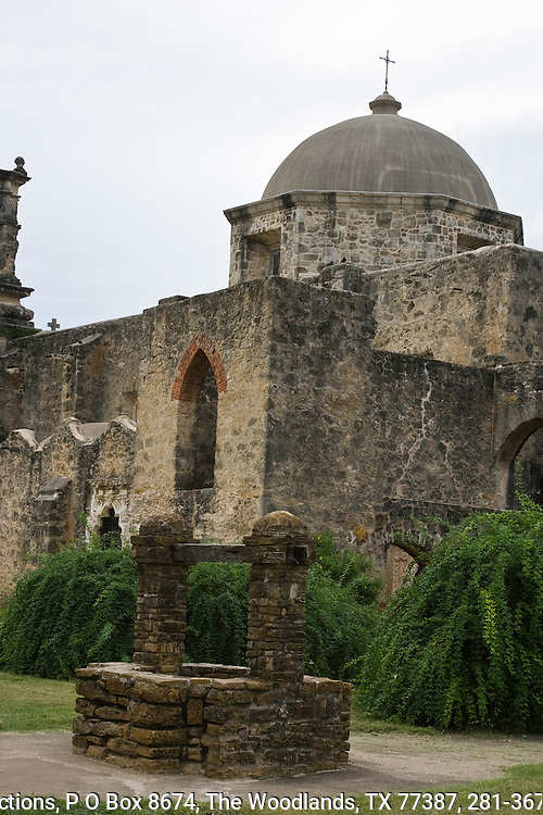 Mission San José is named for Saint Joseph and was completed in 1782.  It is the largest mission on the Mission Trail and the best restored with a breathtaking carved façade around the main entry to the sanctuary. San Antonio, Texas.