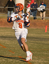 Virginia Cavaliers A Danny Glading (9) in action against Bryant.  The #1 ranked Virginia Cavaliers faced the Bryant Bulldogs at the University of Virginia's Klockner Stadium in Charlottesville, VA on February 16, 2009.
