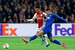 Danilo #47 of Ajax and /ge in action during the Europa League match R32 second leg between Ajax and Getafe at Johan Cruyff Arena on February 27, 2020 in Amsterdam, Netherlands