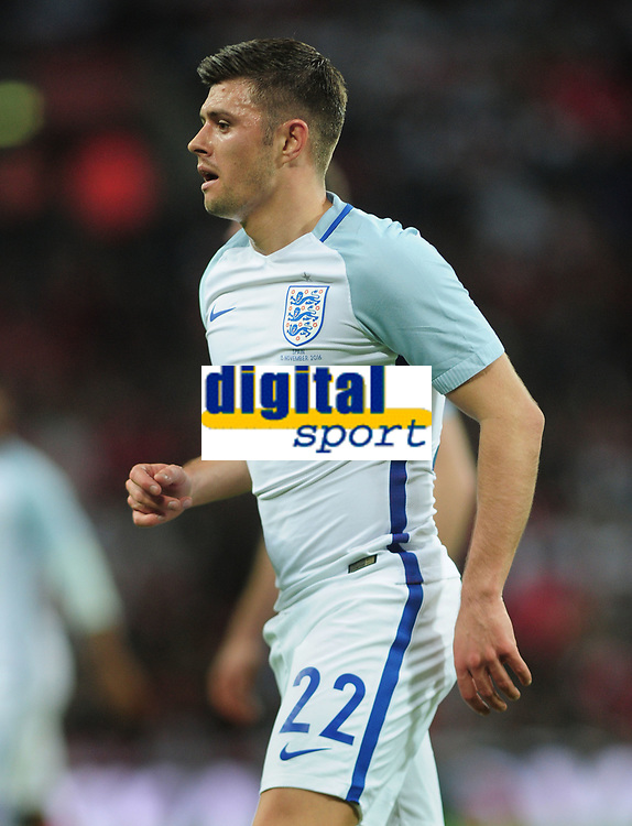 Football - 2016 / 2017 International Friendly - England vs. Spain<br /> <br /> Aaron Cresswell of England at Wembley.<br /> <br /> COLORSPORT/ANDREW COWIE