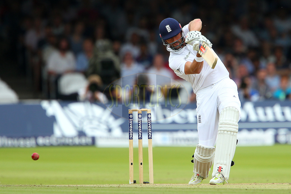 Liam Plunkett of England during day three of the 2nd Investec test match between England and India held at Lords cricket ground in London, England on the 19th July 2014<br /> <br /> Photo by Ron Gaunt / SPORTZPICS/ BCCI