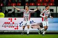 21-11-2015 VOETBAL:WILLEM II-PSV:TILBURG<br /> Erik Falkenburg van Willem II viert zijn doelpunt en Lucas Andersen van Willem II <br /> <br /> Foto: Geert van Erven