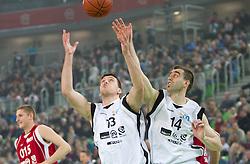 Matej Krusic in Drazen Bubnic na Dnevu slovenske moske kosarke 2010, on January 2, 2011 in Arena Stozice, Ljubljana, Slovenia. (Photo by Vid Ponikvar / Sportida.com)