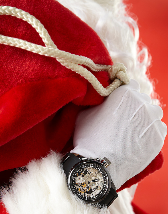 Santa wearing Invicta watch