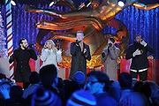 The a cappella group Pentatonix performs at the 2015 Rockefeller Center Christmas Tree Lighting Ceremony, Wednesday, Dec. 2, 2015 in New York. (Photo by Diane Bondareff/Invision for Tishman Speyer/AP Images)