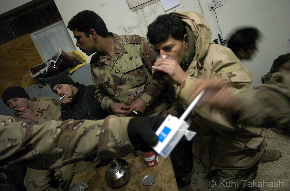 Life of Iraqi soldiers in Mosul, Feb 2005.
