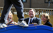 SOUTH BERMONDSEY, LONDON:  (L-R) Ed Balls and Yvette CooperEd Balls, Labour Leadership candidate joins shadow housing minister John Healey and  shadow work and pensions secretary Yvette Cooper  during a visit to a housing development, The Falcon Works development, in central London on 31 August 2010. STEPHEN SIMPSON..