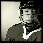 Ice Men Cometh…Li Hang,16, China..An iPhone portrait series on young men competing in the 2012 IIHF Ice Hockey World Championships Division 3. The tournament  was contested by countries New Zealand, Iceland, China, Bulgaria and Turkey at Dunedin Ice Stadium. Dunedin, Otago, New Zealand. 17th January 2012. Photo Tim Clayton
