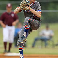North Pontotoc's Brandon Thomas comes in to pitch in the second inning taking over for starting pitcher Ty Roberson.