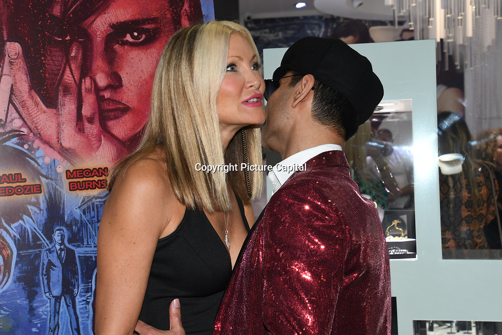 Caprice Bourret is a American businesswoman, model, actress & Naeem Mahmood director of the In2ruders arrives at Tresor Paris In2ruders - launch at Tresor Paris, 7 Greville Street, Hatton Garden, London, UK 13th September 2018.