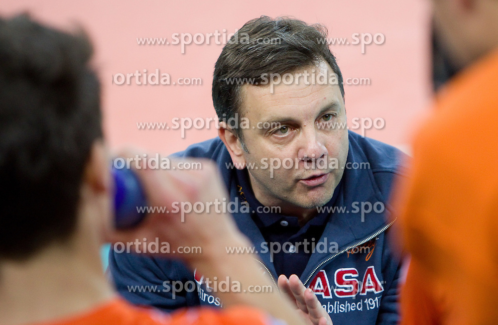 Head coach Igor Kolakovic of ACH during volleyball match between ACH Volley (SLO) and Olympiacos (GRE) in 4th Round of 2011 CEV Champions League, on December 14, 2010 in Arena Stozice, Ljubljana, Slovenia. ACH Volley defeated Olympiacos 3-2. (Photo By Vid Ponikvar / Sportida.com)