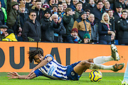 Bernardo Fernandes da Silva Junior (Brighton) in action during the Premier League match between Brighton and Hove Albion and Aston Villa at the American Express Community Stadium, Brighton and Hove, England on 18 January 2020.