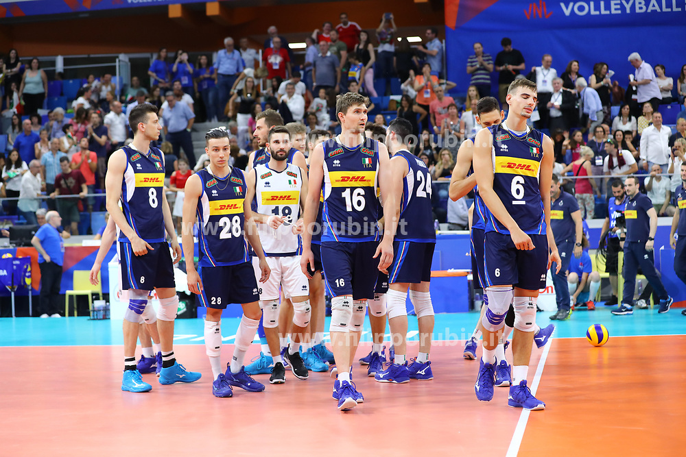 DELUSIONE ITALIA<br /> ITALIA - POLONIA<br /> PALLAVOLO VNL VOLLEYBALL NATIONS LEAGUE 2019<br /> MILANO 23-06-2019<br /> FOTO FILIPPO RUBIN