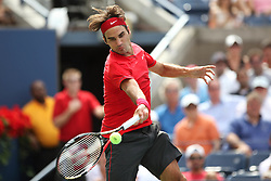 01.09.2011, Billie Jean King Tennis Center, New York, USA, US OPEN, im Bild ROGER FEDERER SUI. MEN  SINGLES 2ND ROUND. ROGER FEDERER SUI DEFEATED  DUDI SELA ISR 6:3, 6:2, 6:2, EXPA Pictures © 2011, PhotoCredit: EXPA/ Newspix/ MAREK JANIKOWSKI +++++ ATTENTION - FOR AUSTRIA/ AUT, SLOVENIA/ SLO, SERBIA/ SRB an CROATIA/ CRO, SWISS/ SUI and SWEDEN/ SWE CLIENT ONLY +++++