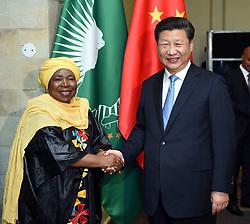 PRETORIA, Dec. 3, 2015 (Xinhua) -- Chinese President Xi Jinping (R) meets with African Union Commission (AUC) Chairperson Nkosazana Dlamini-Zuma in Pretoria, South Africa, Dec. 3, 2015. (Xinhua/Zhang Duo)(wyo) (Credit Image: © Zhang Duo/Xinhua via ZUMA Wire)