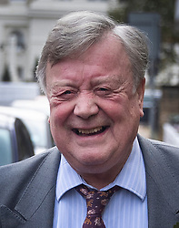 © Licensed to London News Pictures. 05/11/2019. London, UK. Father of the House of Commons Ken Clarke leaves his home for Parliament on his last day as an MP. Ken Clarke first became MP for Rushcliffe in Nottinghamshire in 1970. The House is sitting for the last time today ahead of the General Election which will take place on December 12th. Photo credit: Peter Macdiarmid/LNP