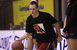 Dejan Mlakar, zmagovalec Planetovega Basket master tekmovanja na Dnevu slovenske moske kosarke, 26. decembra 2008, na Planini, Kranj, Slovenija. (Photo by Vid Ponikvar / Sportida)